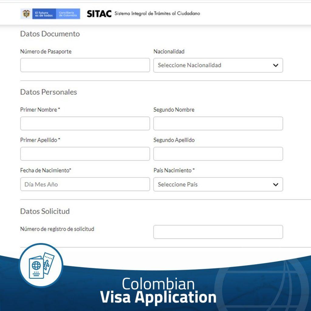 Colombian visa application