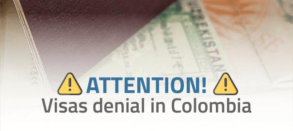 Visas denial in Colombia